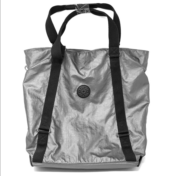Kipling Handbags - Kipling Kyoko Tote Bag Metallic Charcoal Gray